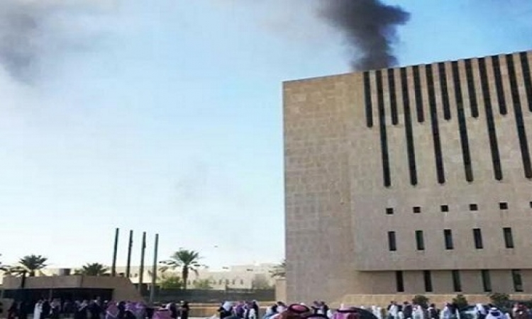 حريق هائل بمبنى التلفزيون السعودى