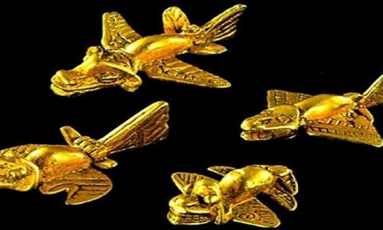 بالفيديو والصور.. لغز الطائرات الذهبية لحضارة المايا