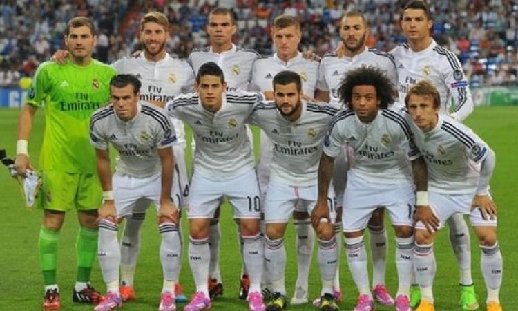 نادى ريال مدريد يتصدر قائمة أغنى أندية العالم فى بداية العام الجديد