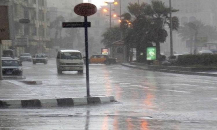 أمطار غزيرة على السواحل الشمالية وسيول بشمال سيناء