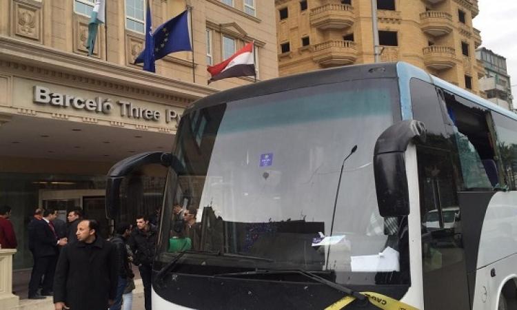 هجوم على أتوبيس وفندق سياحى بشارع الهرم .. وضبط أحد الجناة