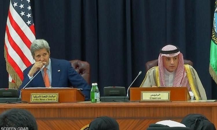 كيرى بالرياض : قلقون من أنشطة إيران العدائية وندعم الخليج