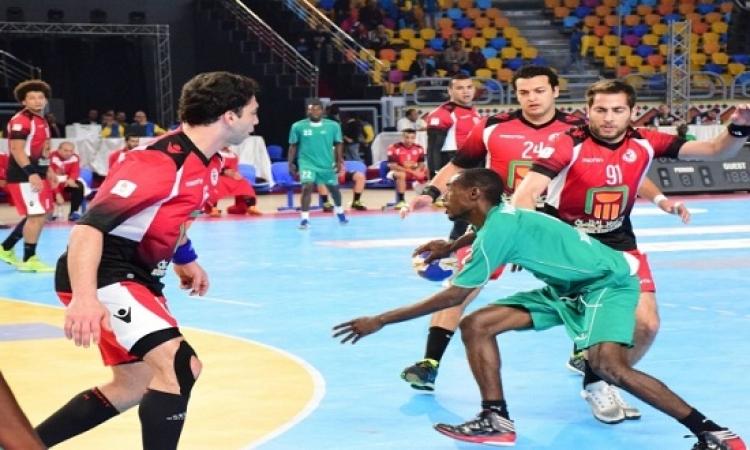 المنتخب الوطنى لكرة اليد يكتسح نيجيريا 34-20