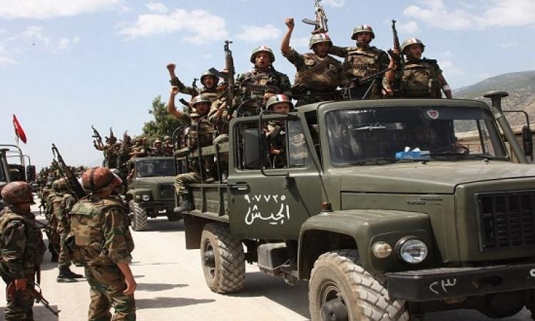 الجيش السورى يقترب من فك الحصار عن إدارة المركبات بحرستا شرق دمشق