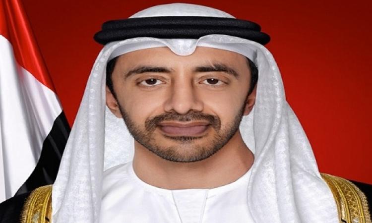 السيسى يستقبل وزير الخارجية الإماراتى عبد الله بن زايد