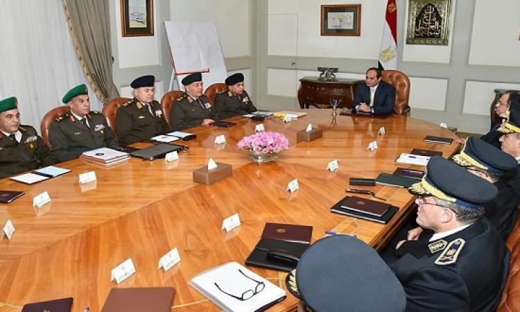 الرئيس السيسى يستعرض الأوضاع الأمنية فى سيناء