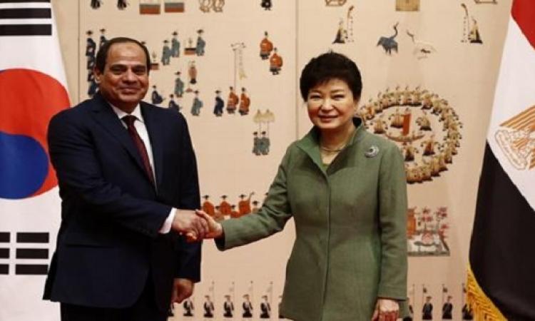 السيسى يبحث تعزيز التعاون الثنائى مع رئيسة كوريا الجنوبية