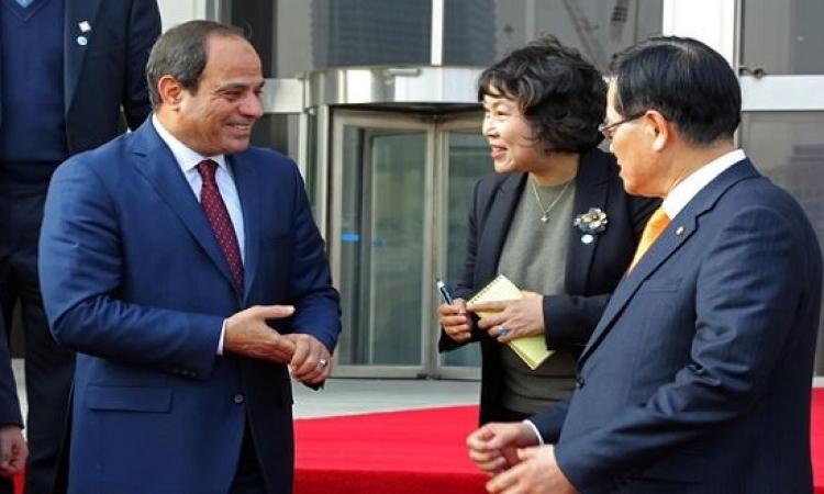 بالصور .. السيسى يلتقى رئيس البرلمان الكورى وعددًا من النواب