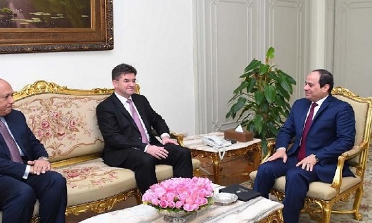 السيسى يستقبل نائب رئيس الوزراء وزير خارجية سلوفاكيا