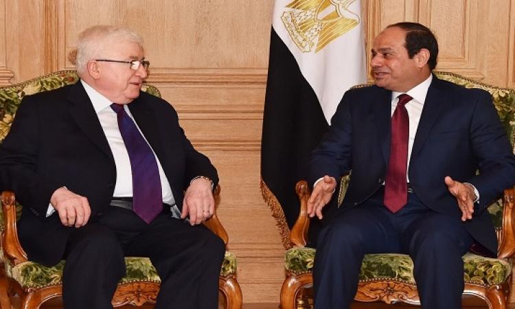قمة مصرية عراقية بين السيسى ومعصوم بالاتحادية