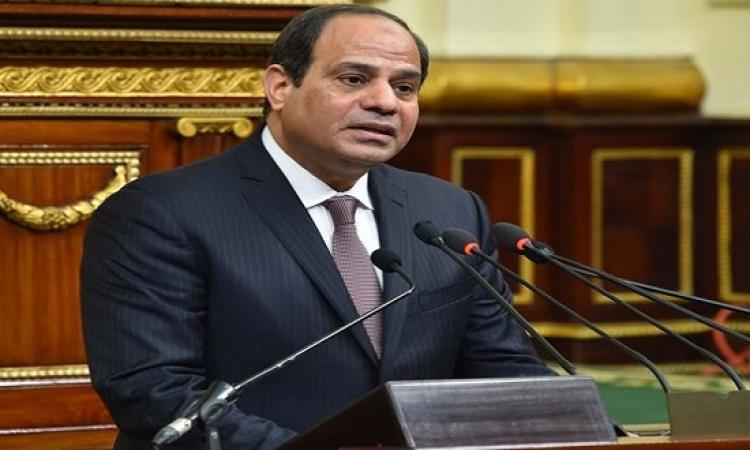 السيسى يخطر مجلس النواب باستمرار تكليف حكومة شريف إسماعيل