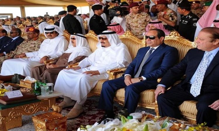السيسى وقادة عرب يشهدون مناورات رعد الشمال بالسعودية