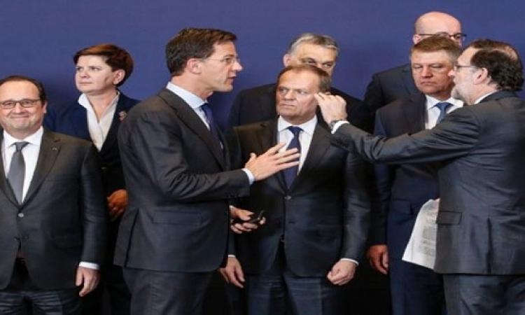 قادة الاتحاد الأوروبى يتفقون على موقف مشترك بشأن المهاجرين بتركيا