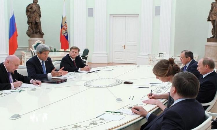 حسم مصير بشار الأسد خلال مباحثات بوتين وكيرى