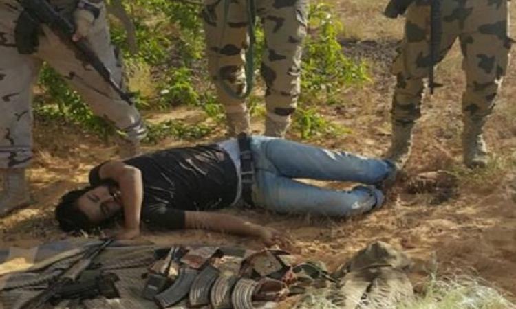 بالصور .. مقتل 3 إرهابيين أثناء محاولتهم زرع عبوة ناسفة برفح