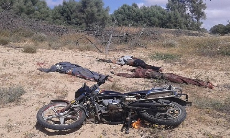 بالصور .. مقتل 3 ارهابيين فى تبادل لإطلاق نار بالشيخ زويد