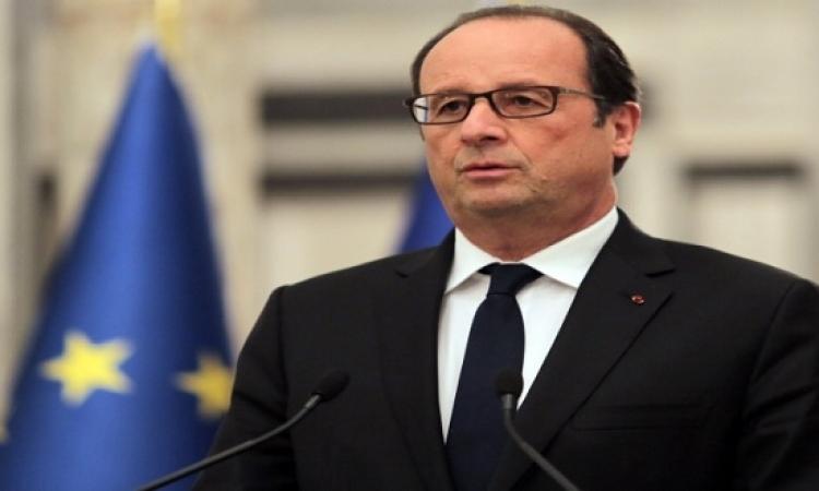 4 مسؤولين فرنسيين يصلون القاهرة لإعداد زيارة هولاند