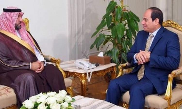 السيسى يبحث مع الأمير تركى أعمال مؤسسة خادم الحرمين الإنسانية بمصر
