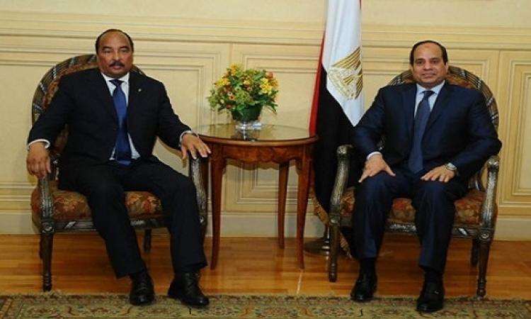 خلال القمة المصرية الموريتانية .. السيسى يهدى عبد العزيز قلادة النيل