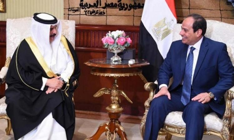 السيسى وملك البحرين يشهدان توقيع اتفاقيات ومذكرات تفاهم بين البلدين