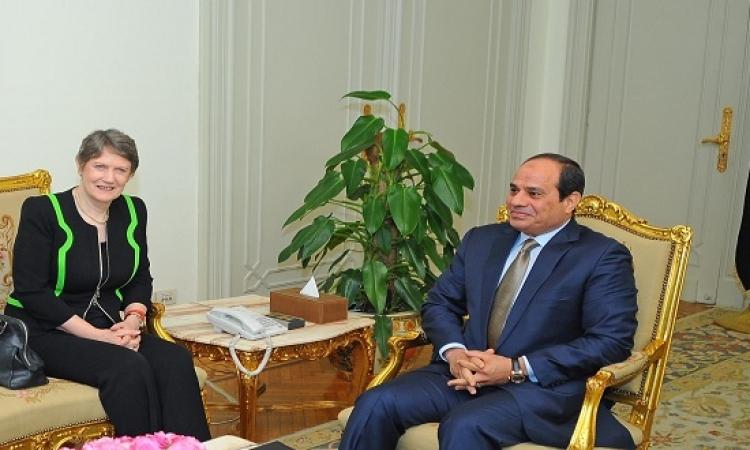"""الرئيس يستعرض مع رئيسة برنامج للأمم المتحدة """"رؤية مصر """"2030"""""""