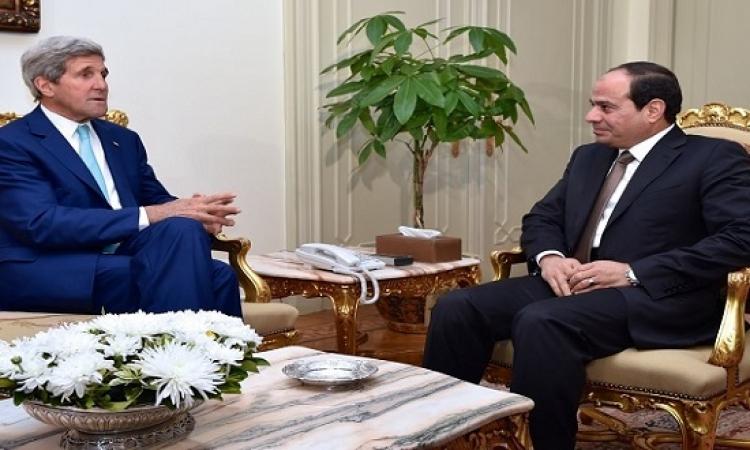 جون كيرى فى القاهرة غداً للقاء الرئيس السيسى
