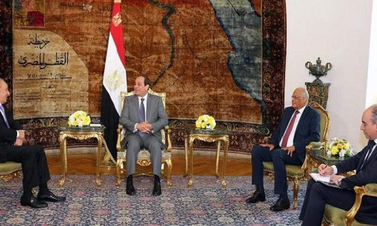 السيسى يؤكد لبرى حرص مصر على الحفاظ على استقرار لبنان