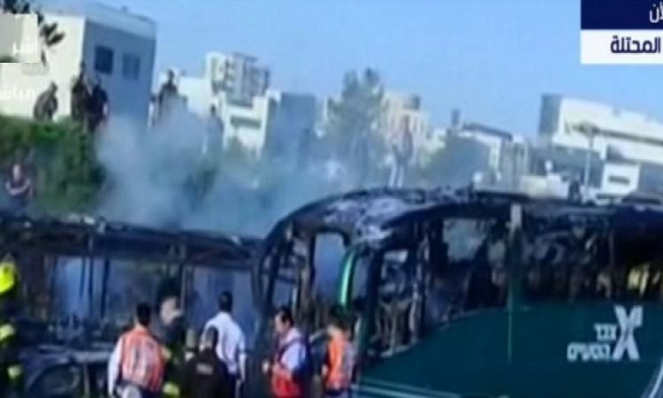 بالفيديو.. اللحظات الأولى لانفجار حافلة ركاب إسرائيلية بالقدس