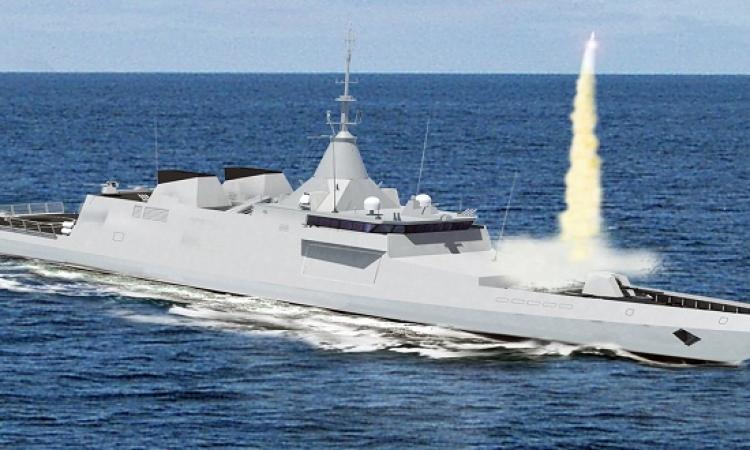 الاحتفال بقطع أول لوح معدنى لتصنيع المدمرة البحرية GOWIND فى مصر