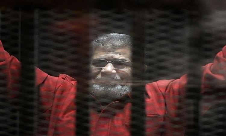 النطق بالحكم على مرسى اليوم فى قضية التخابر مع قطر
