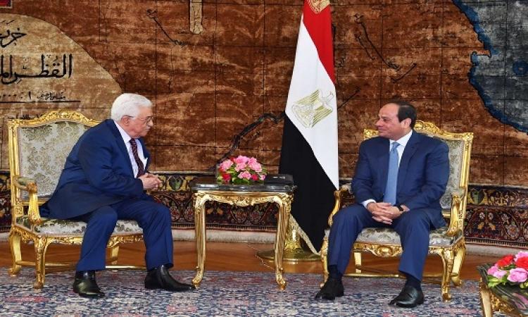 قمة مصرية – فلسطينية بين السيسى وعباس بالقاهرة اليوم