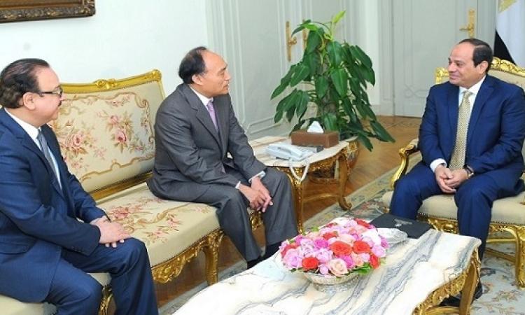 الرئيس السيسى يستقبل سكرتير عام الاتحاد الدولى للاتصالات