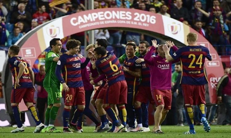 بالفيديو .. برشلونة يهزم أشبيلية ويحتفظ بكأس اسبانيا