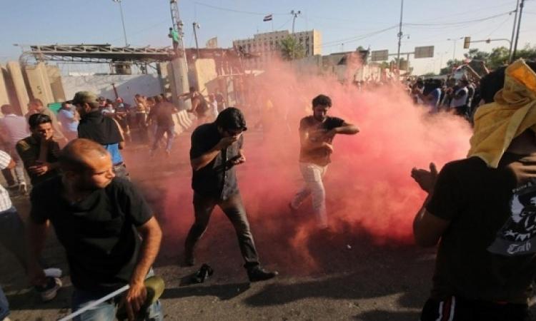 """مئات العراقيين يتظاهرون فى """"ساحة التحرير"""""""