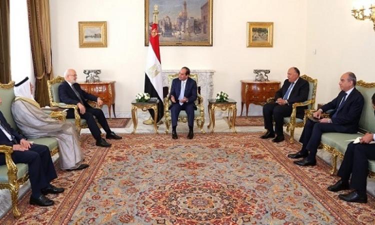 السيسى يؤكد للجعفرى دعم مصر لوحدة وسيادة العراق