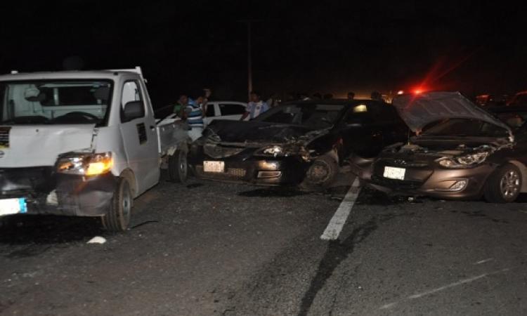 مصرع 4 أشخاص وإصابة 4 فى حادث تصادم على طريق أبو سمبل بأسوان