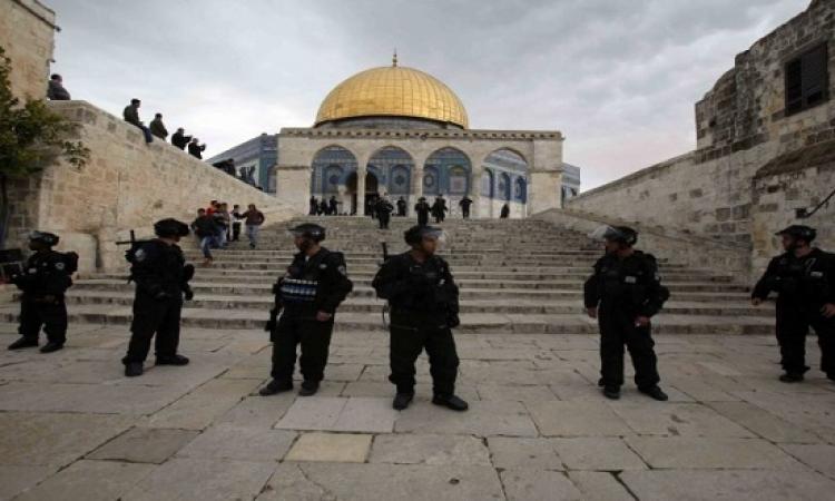 قوات الاحتلال الإسرائيلى تقتحم المسجد الأقصى