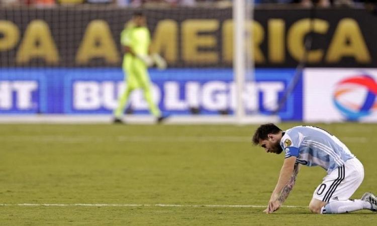 ميسى مع الأرجنتين .. أرجل مرتعشة واعتزال مبكر !!
