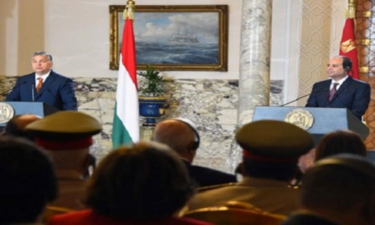 السيسى ورئيس وزراء المجر يبحثان العلاقات الثنائية والقضايا المشتركة