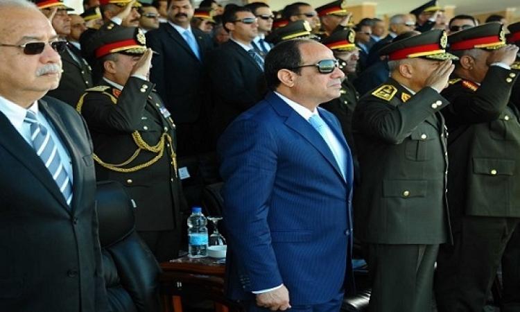 الرئيس السيسى يشهد حفل تخريج دفعة جديدة من طلبة الكلية الجوية
