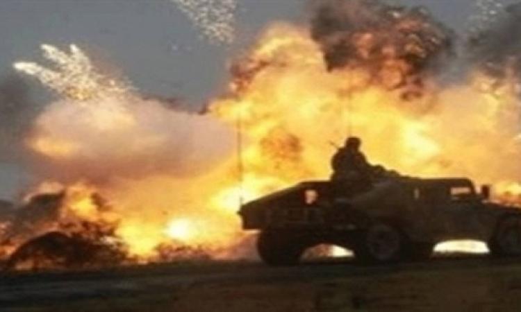 إصابة 3 جنود شرطة فى انفجار بمدرعة بالعريش