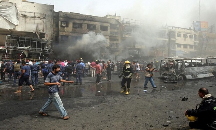 300 قتيل وجرح فى تفجير لداعش وسط بغداد