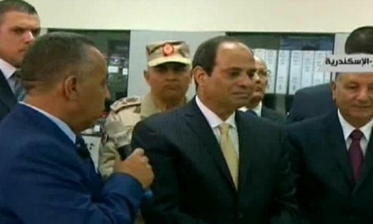 السيسى يتفقد مشروع مجمع الشركة المصرية لإنتاج الايثيلين ومشتقاته