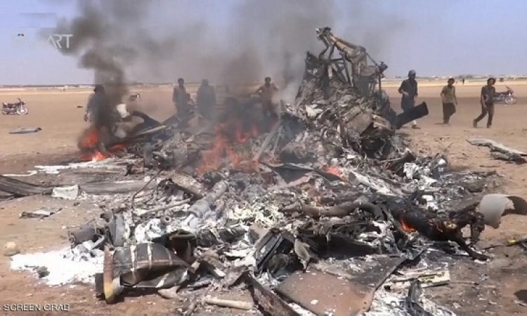 مصرع 5 عسكريين روس فى اسقاط مروحيتهم بريف أدلب