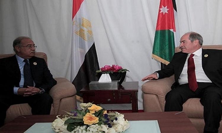 رئيس الوزراء يلتقى نظيره الأردنى فى إطار اجتماعات اللجنة العليا المشتركة
