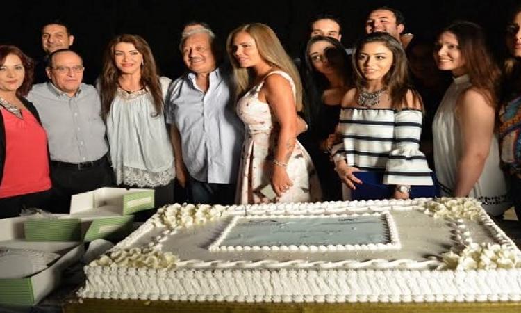 بالصور .. نيكول سابا تحتفل ببدء تصوير مسلسل ولاد تسعة