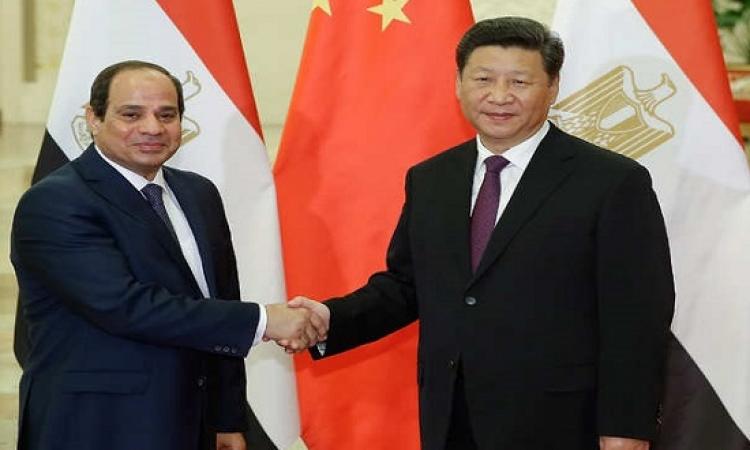 السيسى يبحث مع الرئيس الصينى تعزيز العلاقات الثنائية