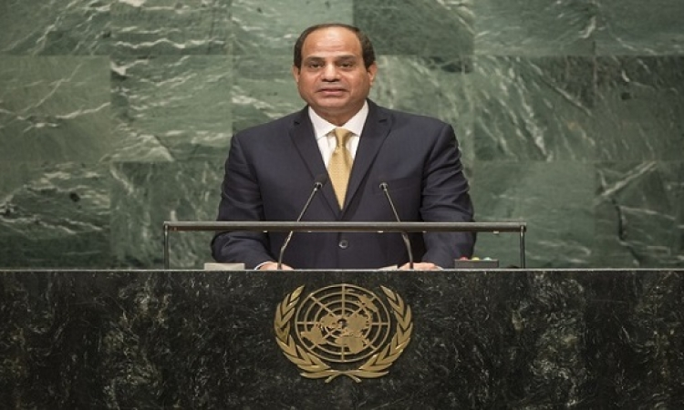 السيسى يطرح رؤية مصر ازاء قضايا المنطقة وافريقيا امام اجتماعات الجمعية العامة للامم المتحدة
