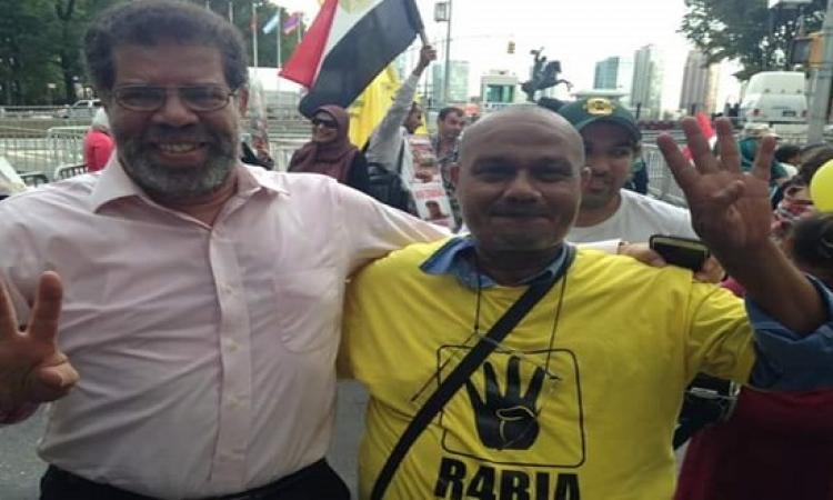 بالصور .. شقيق شوبير والعرابى يقودان المظاهرات ضد السيسى بأمريكا