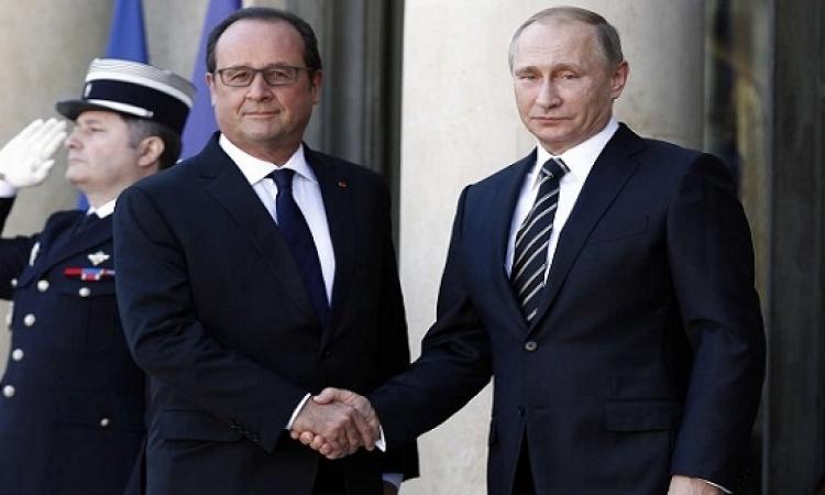 """"""" سوريا """" تلغى زيارة بوتين إلى فرنسا"""